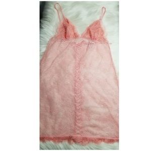 Victoria's secret lace baby pink nightie